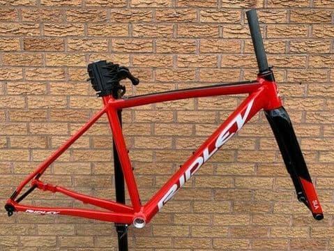Ridley Fenix SLA Alloy Road Bike Frameset Disc Brake Frame Fork Red